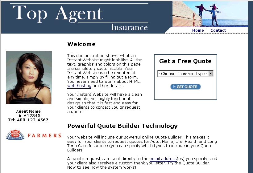 Click to view Insurance Agency Website Builder 1.5 screenshot